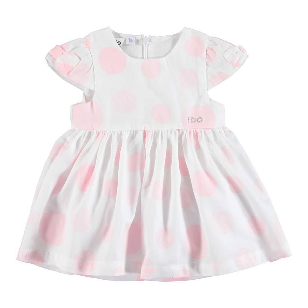Платье для девочки iDO летнее атласный хлопок в горохи 4.U139.00/6BM4