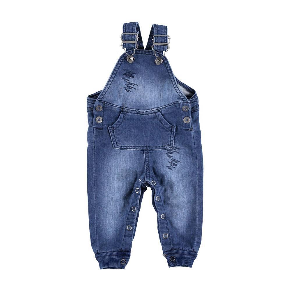 Комбинезон для мальчика iDO джинсовый на шлейках 4.U055.00/7450