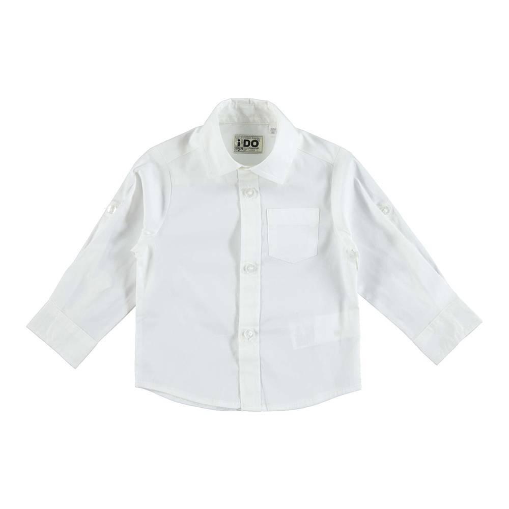 Рубашка для мальчика iDO классика с карманом регулируемая длина рукава 4.U273.00/0113
