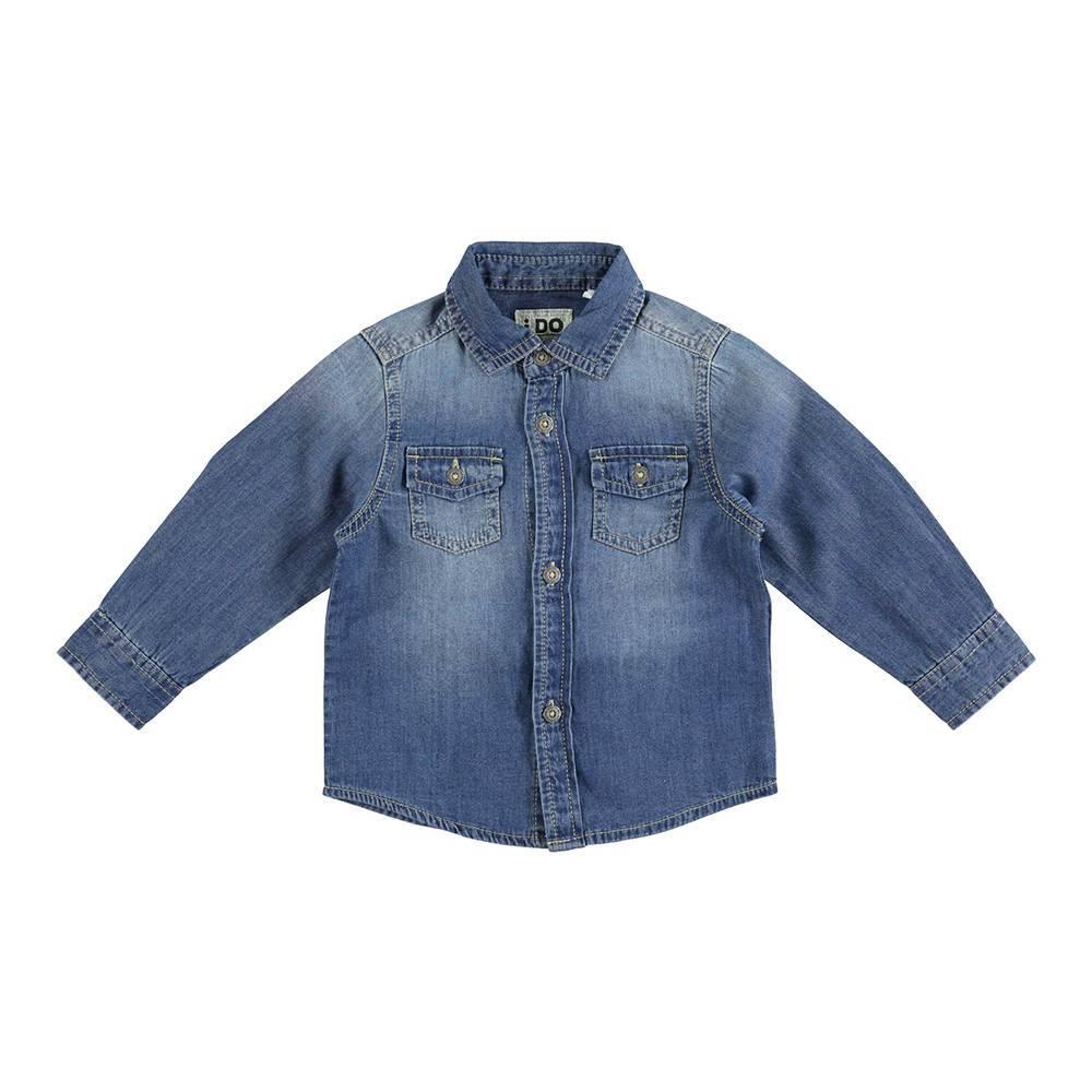 Рубашка для мальчика iDO джинсовая деним 4.U274.00/7400