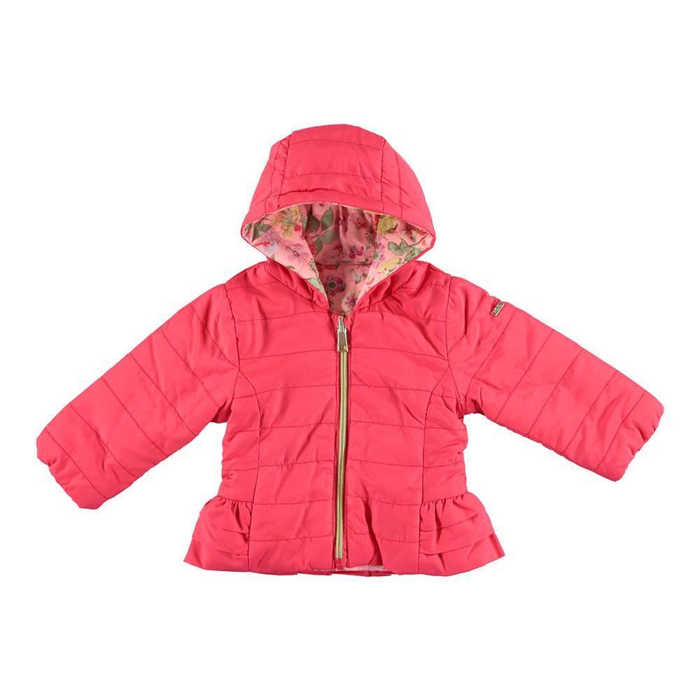Куртка для девочки iDO демисезонная двухсторонняя с капюшоном 4.U384.00/8416