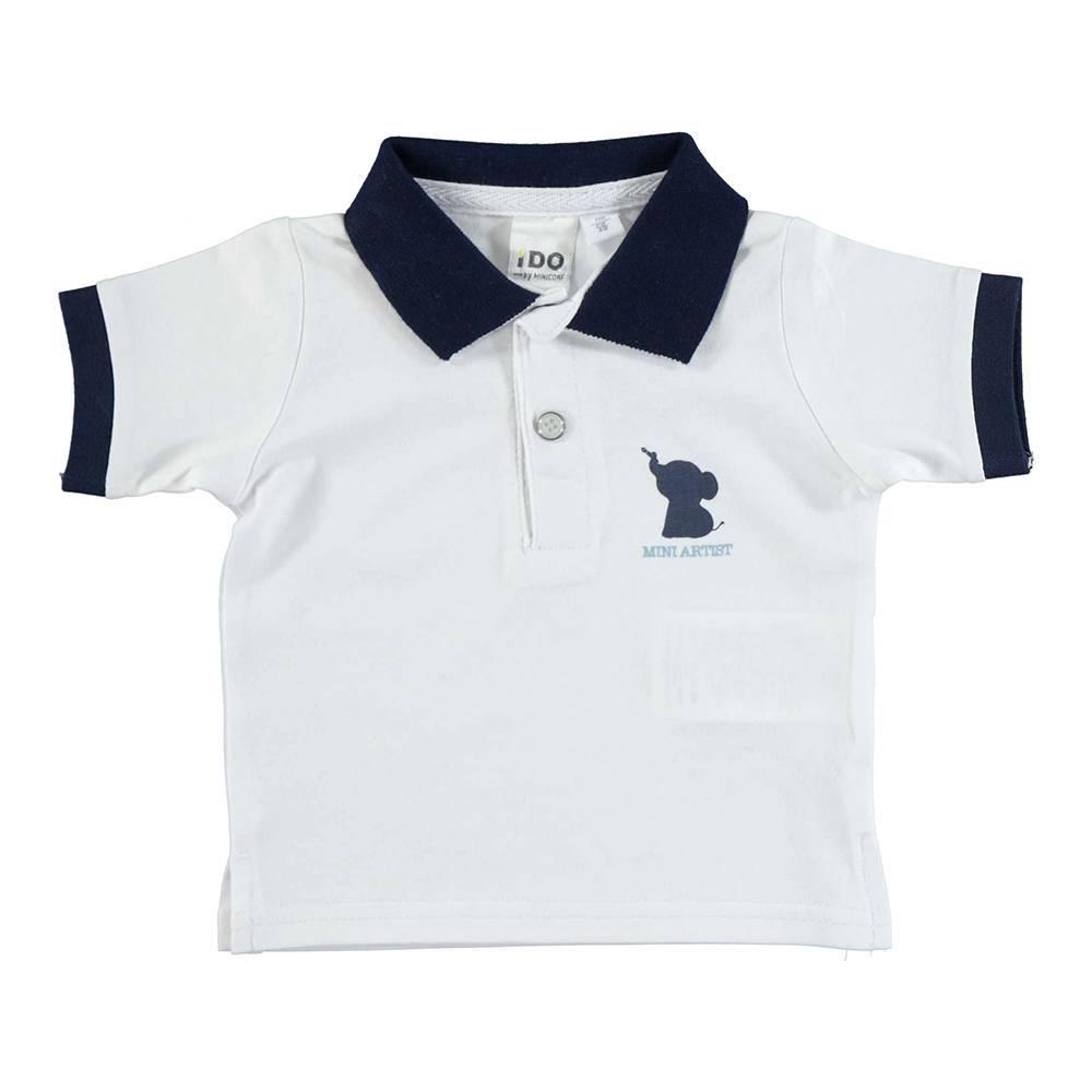 Поло футболка для мальчика iDO хлопок эластичный трикотаж аппликации 4.U600.00/8020