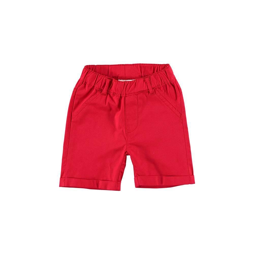 Шорты для мальчика iDO красные хлопковые с отворотами 4.U612.00/2256