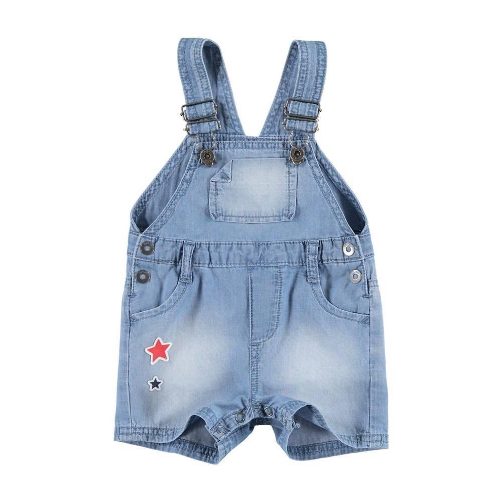 Комбинезон для мальчика iDO летний джинсовый на шлейках синий 4.U613.00/7113