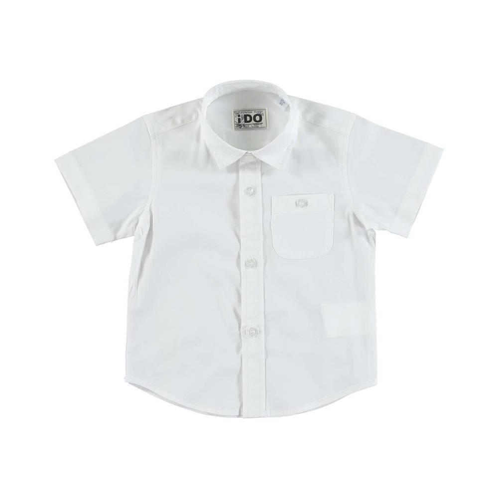Рубашка для мальчика iDO класика летняя короткий рукав 4.U700.00/0113