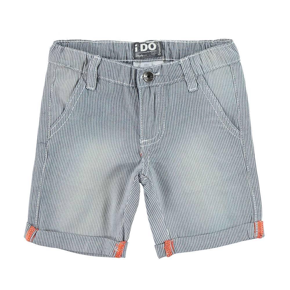 Шорты для мальчика iDO хлопковые стильные джинсовые с отворотами 4.U701.00/7450