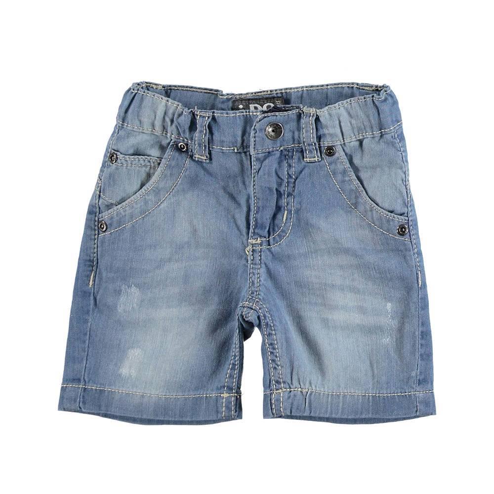 Шорты для мальчика iDO джинсовые выбеленные хлопок 4.U732.00/7350