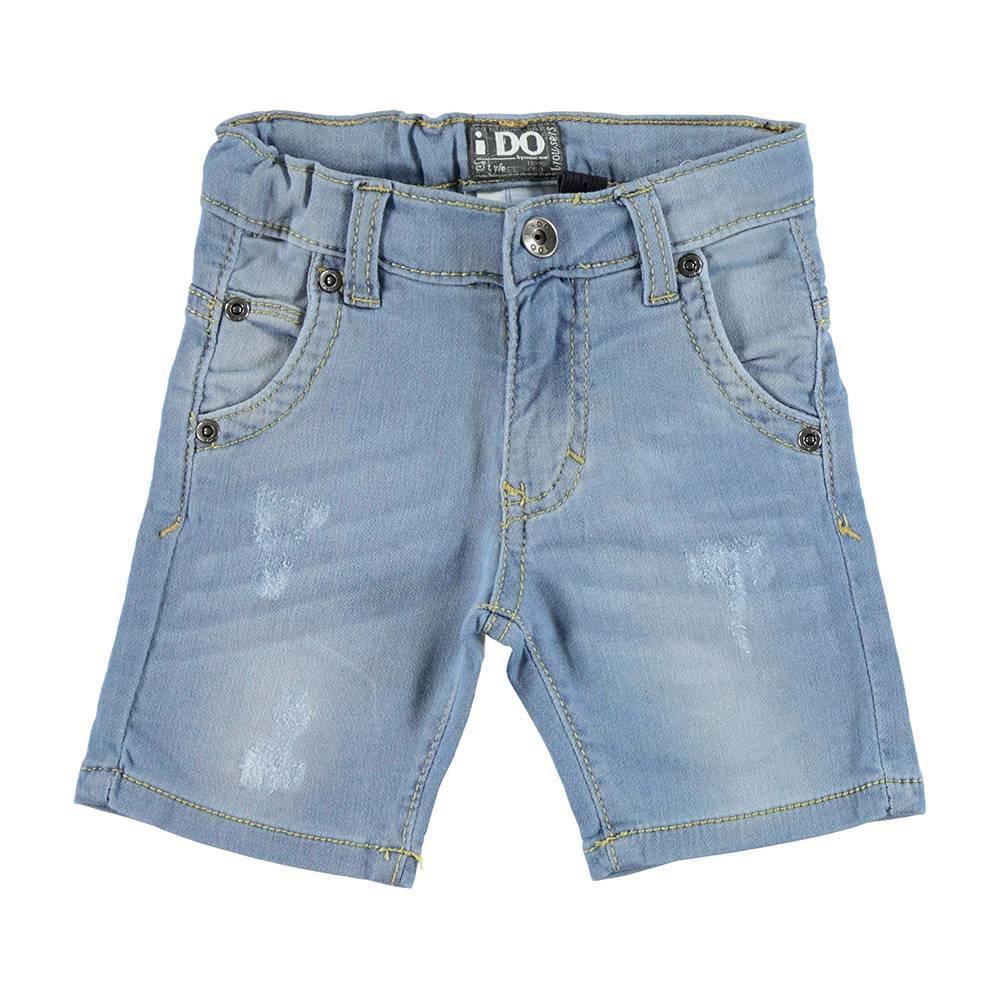 Шорты для мальчика iDO джинсовые выбеленные голубой 4.U737.00/7113