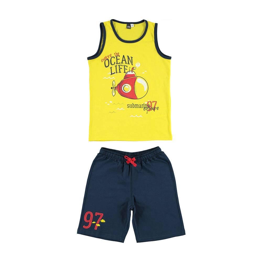 Комплект для мальчика iDO спортивный хлопок трикотаж 4.U748.00/8017