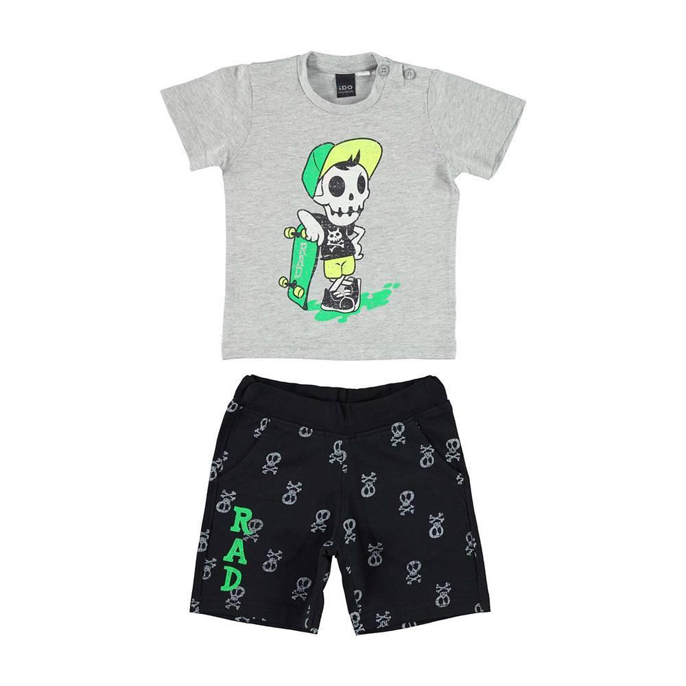 Комплект для мальчика iDO спортивный хлопок трикотаж футболка шорты 4.U750.00/8067