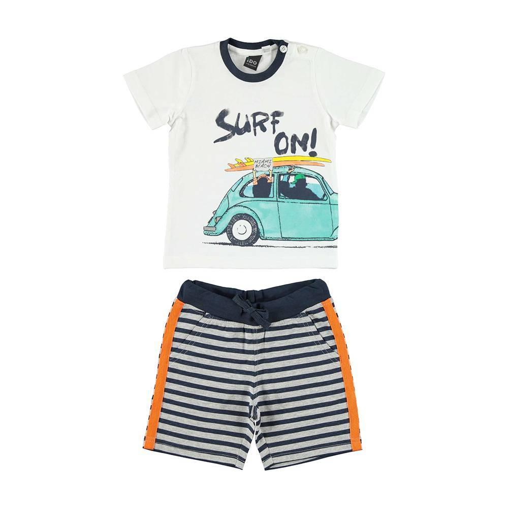 Комплект для мальчика iDO спортивный хлопок трикотаж принт футболка шорты 4.U751.00