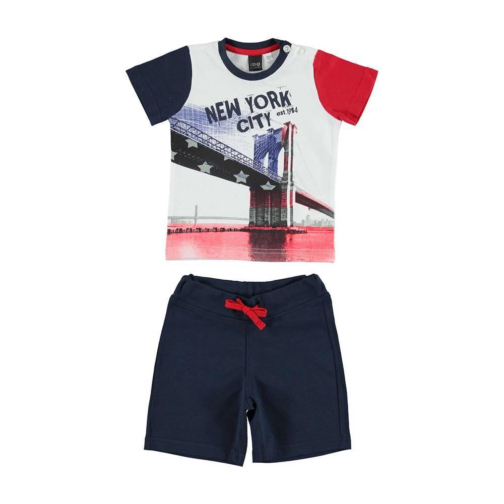 Комплект для мальчика iDO спортивный трикотажный хлопок футболка шорты 4.U753.00/8020