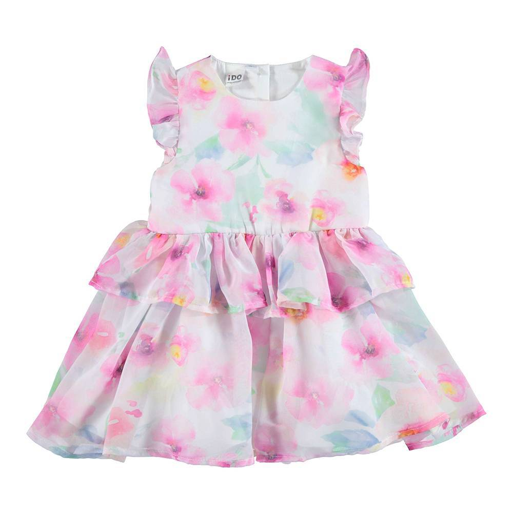 Платье для девочки iDO летнее цветочный принт без рукава 4.U760.00/6CA8