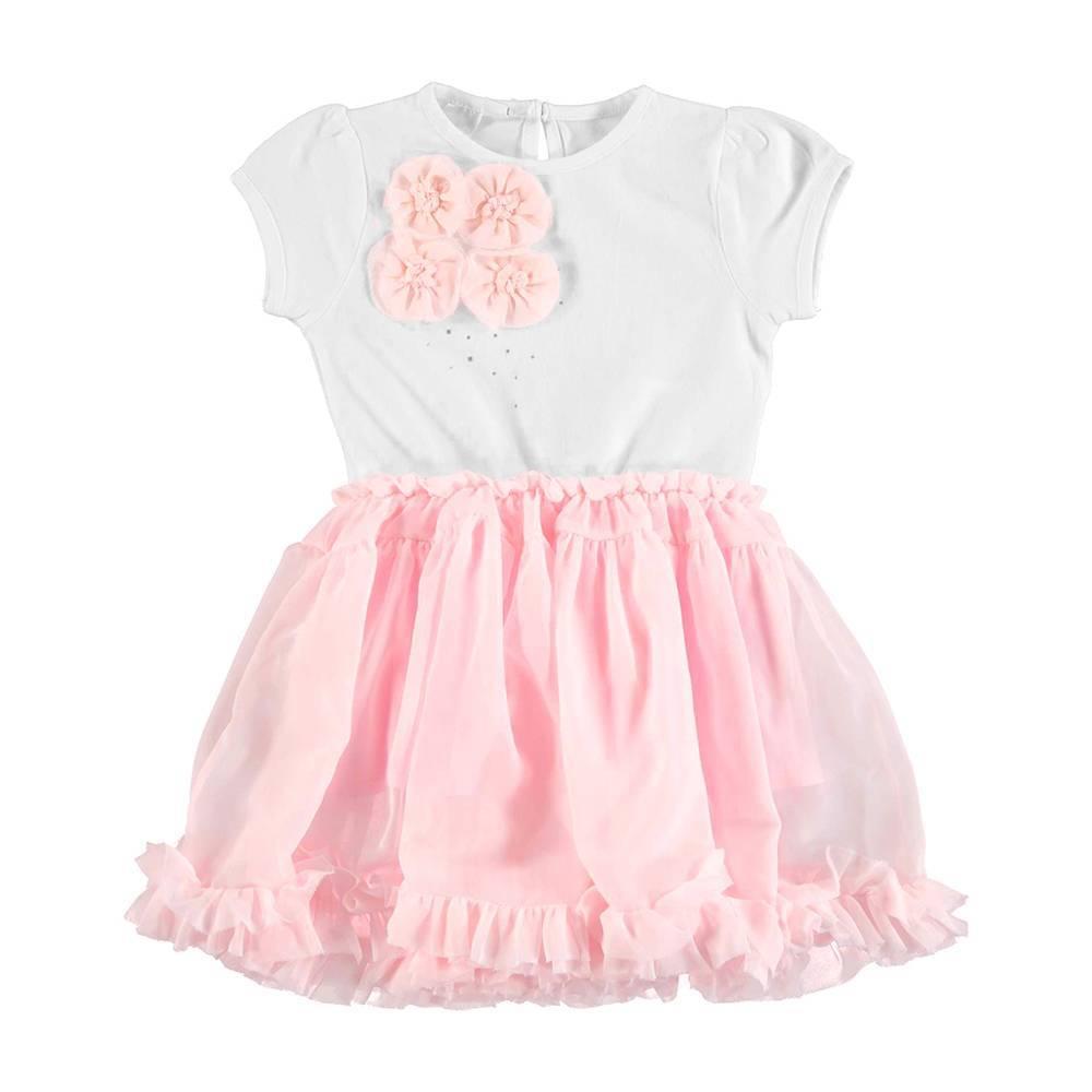Платье для девочки iDO летнее нарядное на подкладке 4.U762.00/8002