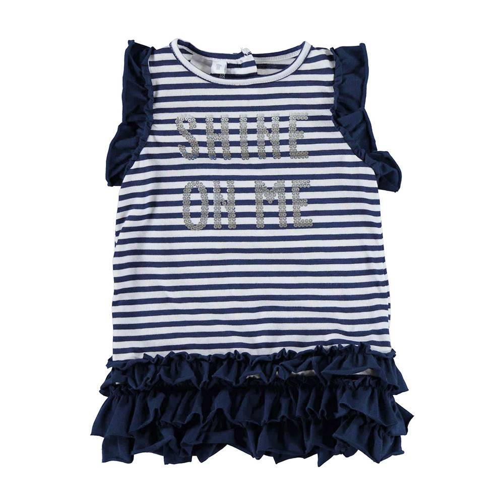 Платье для девочки iDO бавовна трикотаж волан 4.U767.00/3854