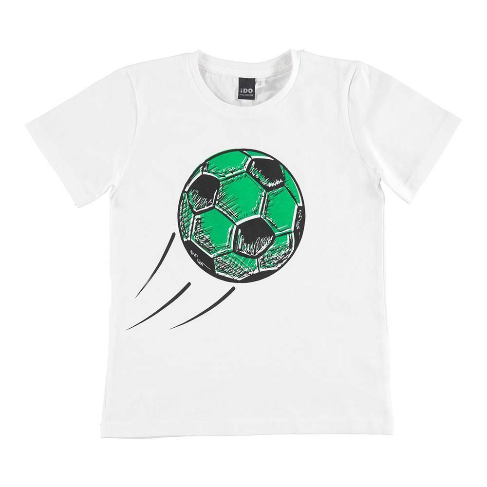 Футболка для мальчика iDO хлопок трикотаж принт меняет цвет 4.U810.00/0113