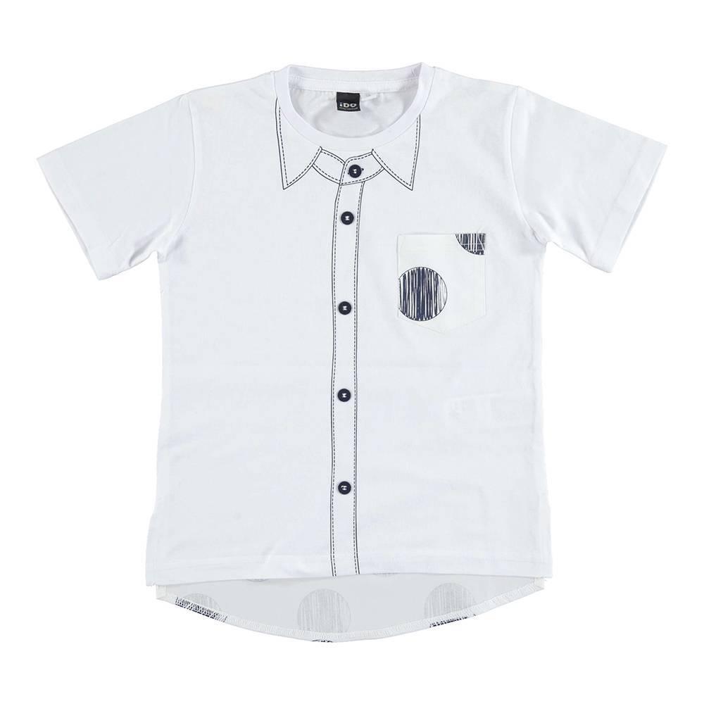 Футболка для мальчика iDO футболка хлопок рубашечный стиль 4.U815.00/0113