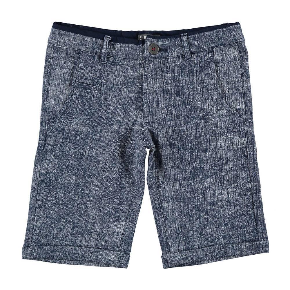 Шорты для мальчика iDO трикотажные синий меланж 4.U837.00/6BE1