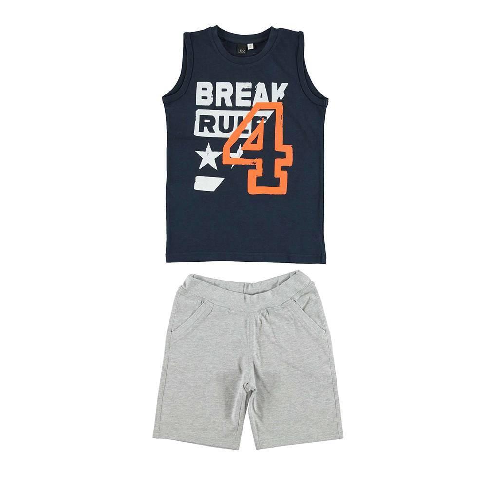 Комплект для мальчика iDO спортивные хлопок трикотаж майка шорты 4.U852.00/8009