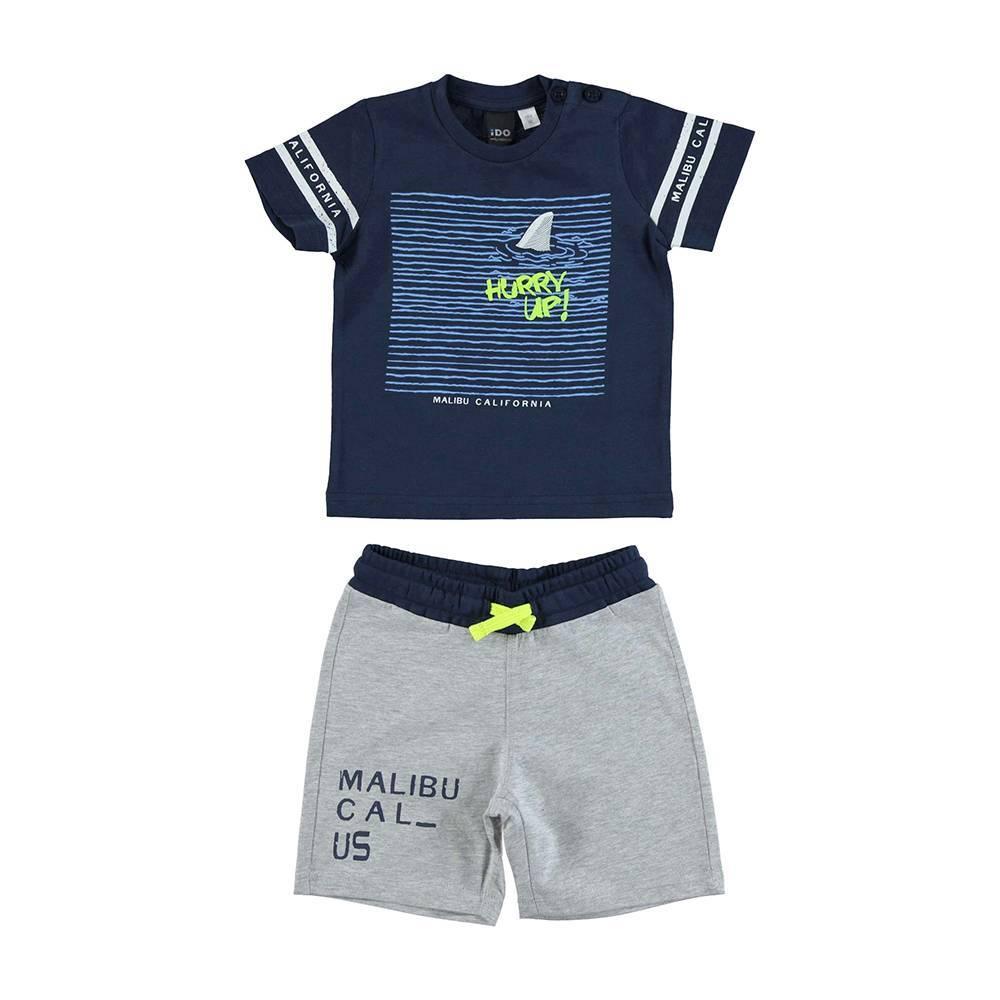 Комплект для мальчика iDO спортивный хлопок трикотаж футболка шорты 4.U749.00/8009