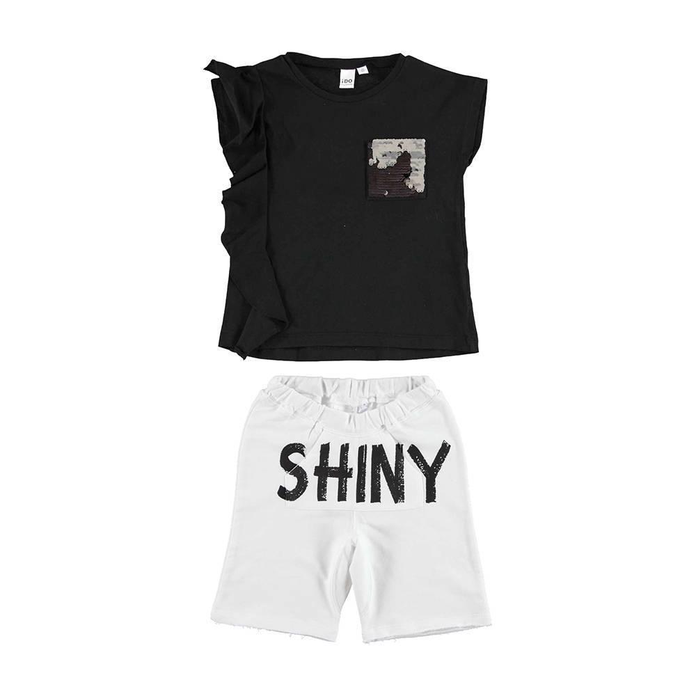 Комплект для девочки iDO летний хлопок трикотаж футболка шорты 4.U921.00/8115