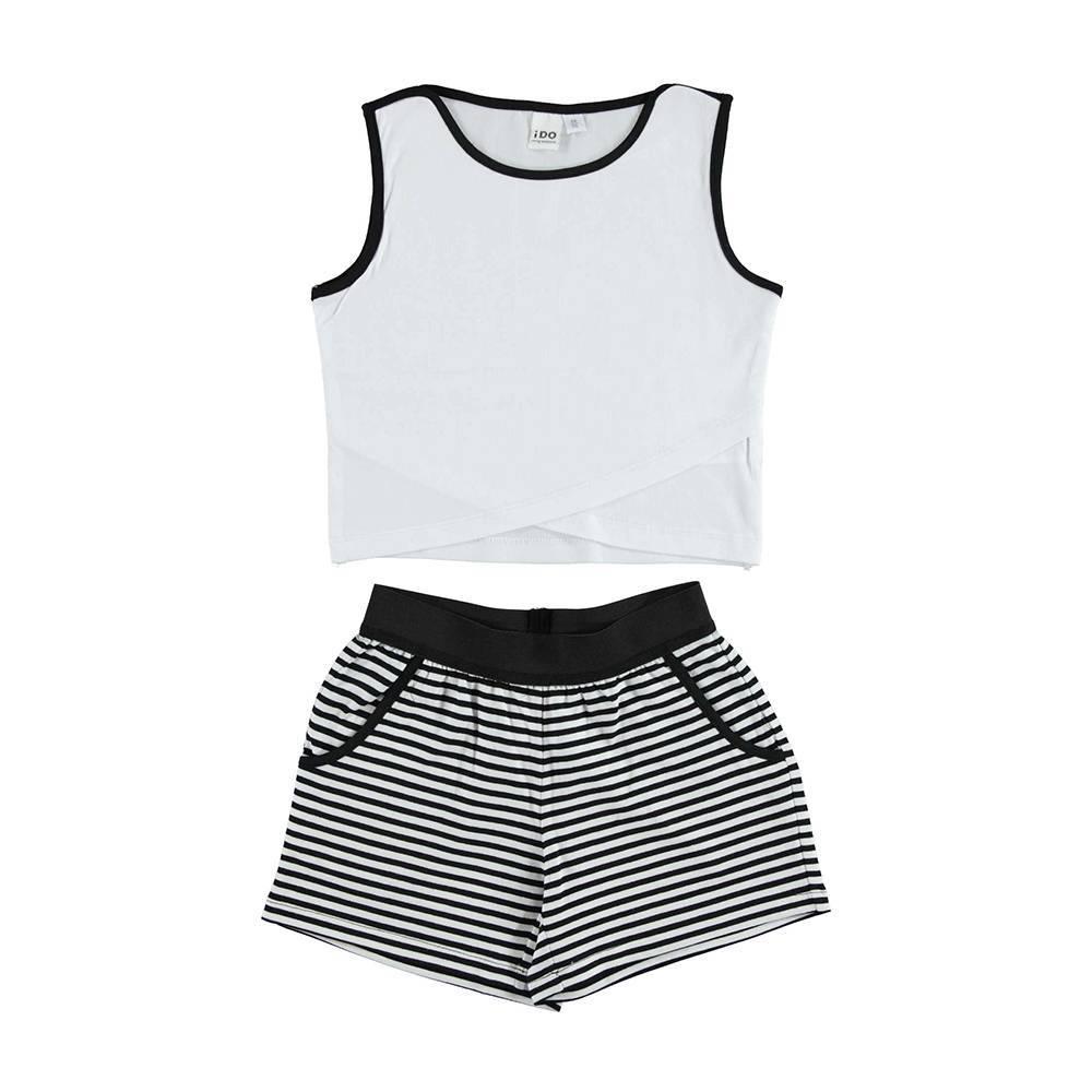 Комплект для девочки iDO летний хлопок трикотаж футболка шорты 4.U923.00/8057