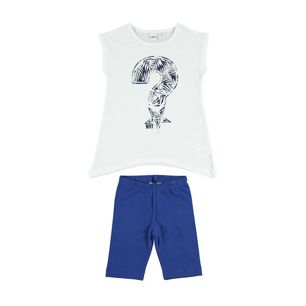 Комплект для девочки iDO костюм летний хлопок трикотаж футболка шорты 4.U925.00/8020