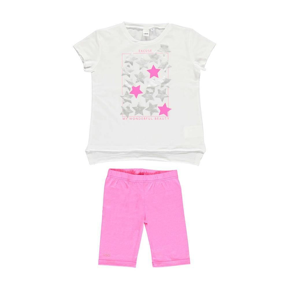 Комплект для девочки iDO літній бавовна трикотаж майка шорти 4.U929.00
