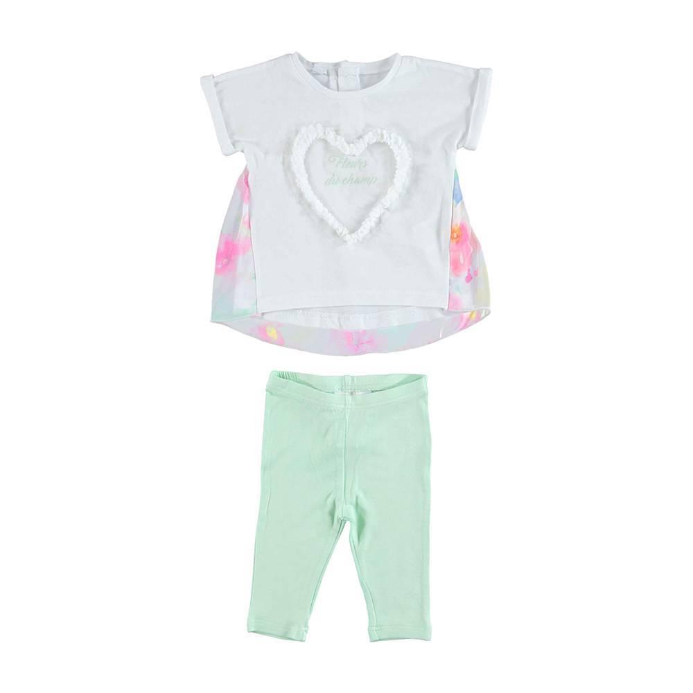 Комплект для девочки iDO летний хлопок трикотаж футболка велосипедки 4.U790.00/8036