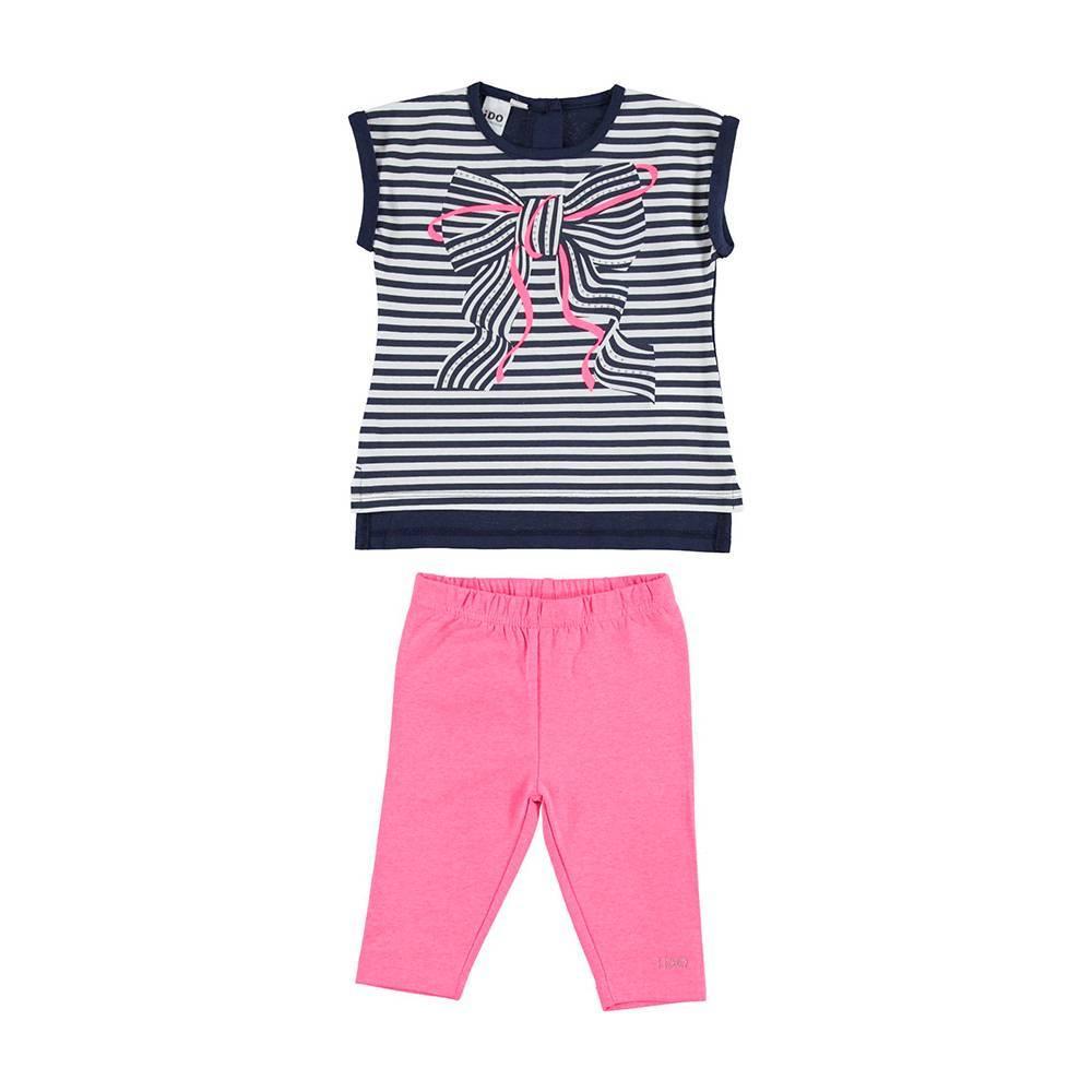 Комплект для девочки iDO летний трикотажный хлопок футболка шорты 4.U793.00/8417