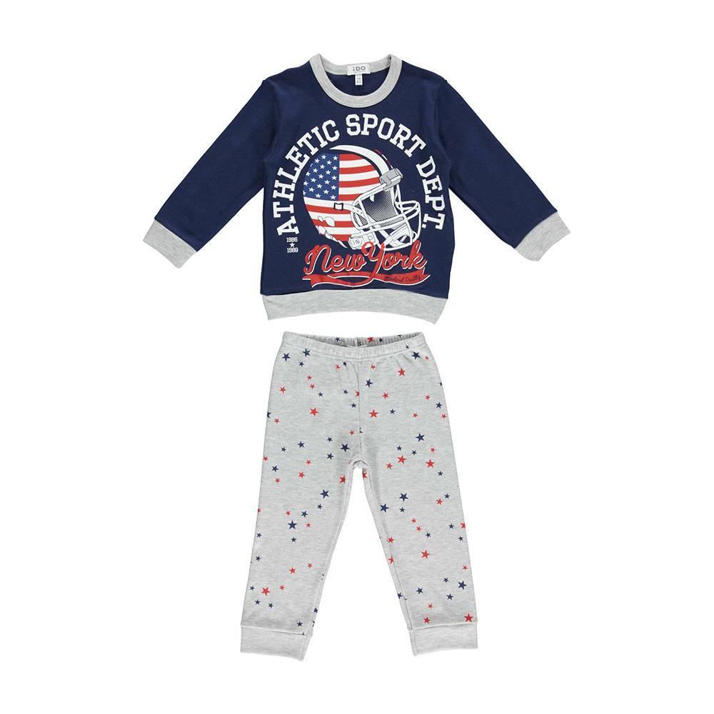 Пижама для мальчика iDO хлопок трикотаж реглан штаны 4.U088.00/3542