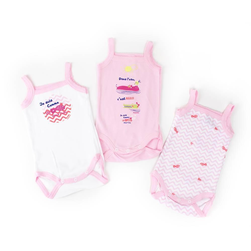 Боди майка на бретельках комплект для девочки ABSORBA новорожденной хлопок трикотаж 6L60326/30