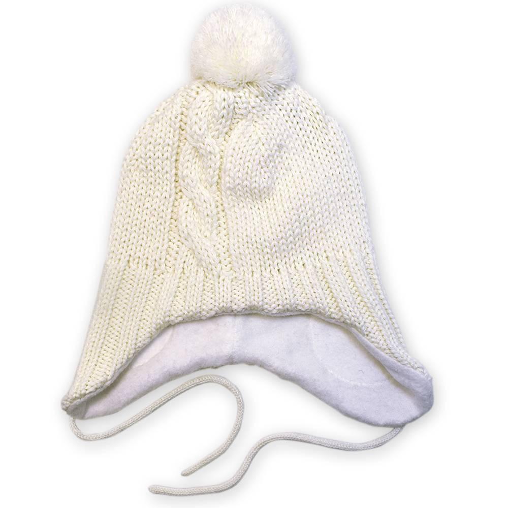 Шапка для мальчика LENNE зимняя на завязках помпон подкладка хлопок JENO 18379