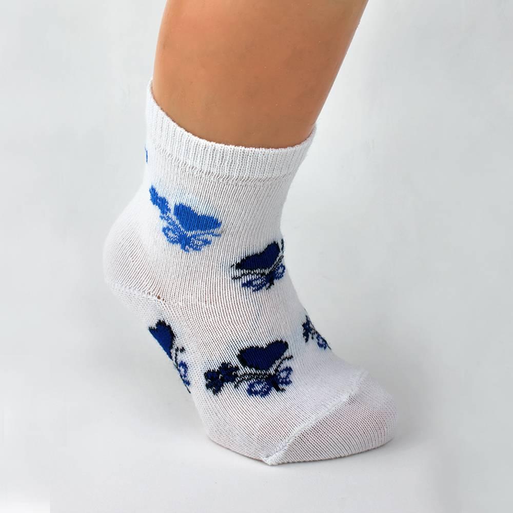 Носки для девочки WERI Spezials белый с рисунком 2000-16