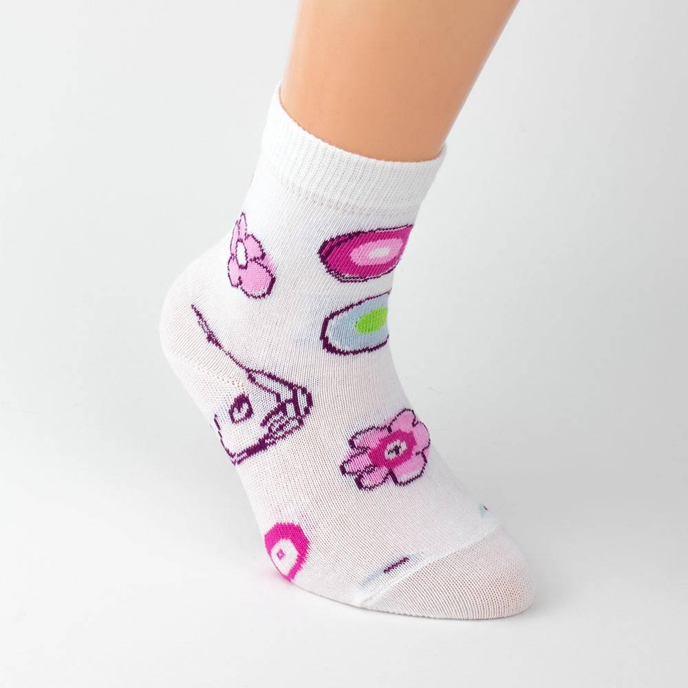 Носки для девочки WERI Spezials эластичные с рисунком 2000-14