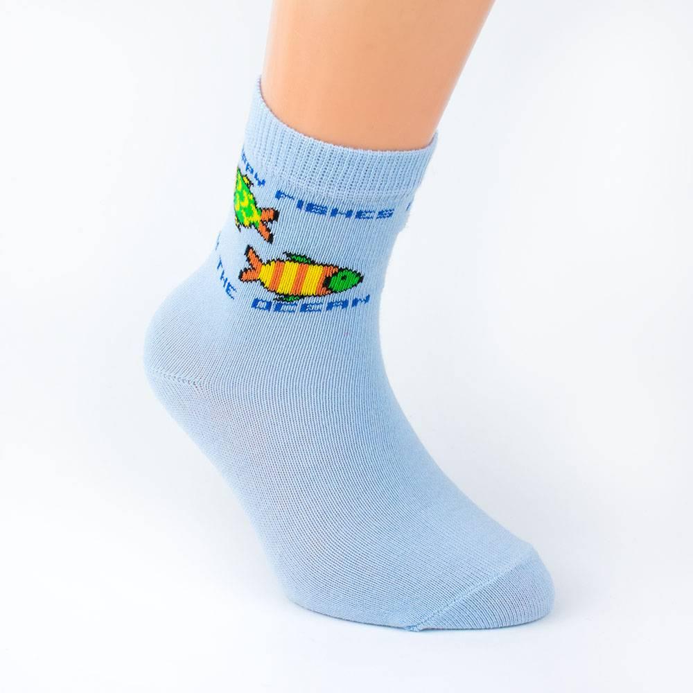 Носки для мальчика WERI Spezials однотонный с рисунком 2000-14/