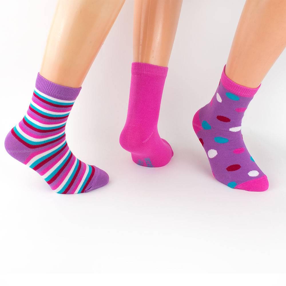 Носки для девочки WERI Spezials с рисунком 3 пары