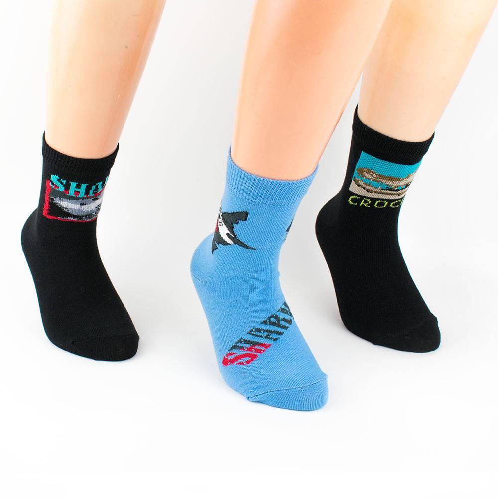 Носки для мальчика однотонные с рисунком 5 пар