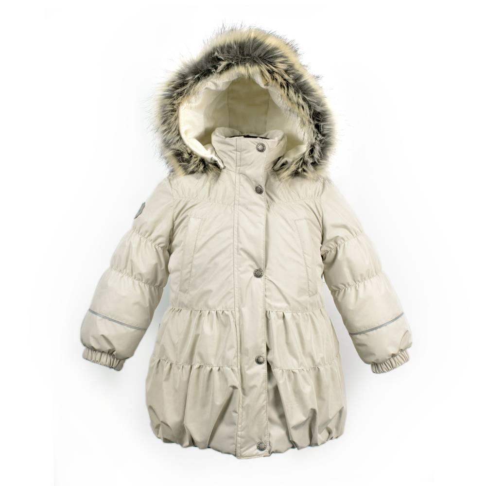 Пальто для девочки LENNE зимнее расклешенное капюшон съемный ткань Active ALICE 18333