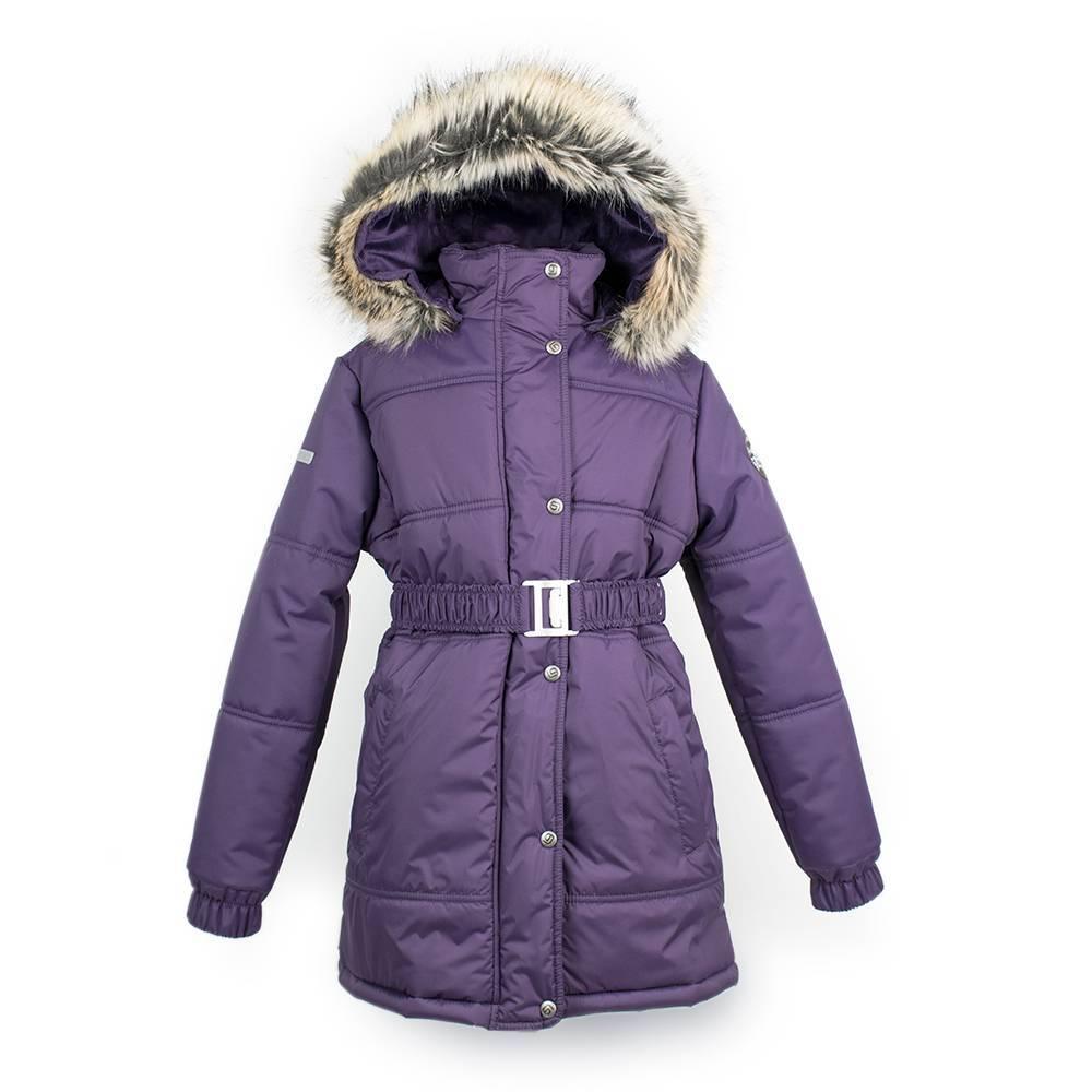 Куртка для девочки LENNE зимняя съемный капюшон пояс GRETEL