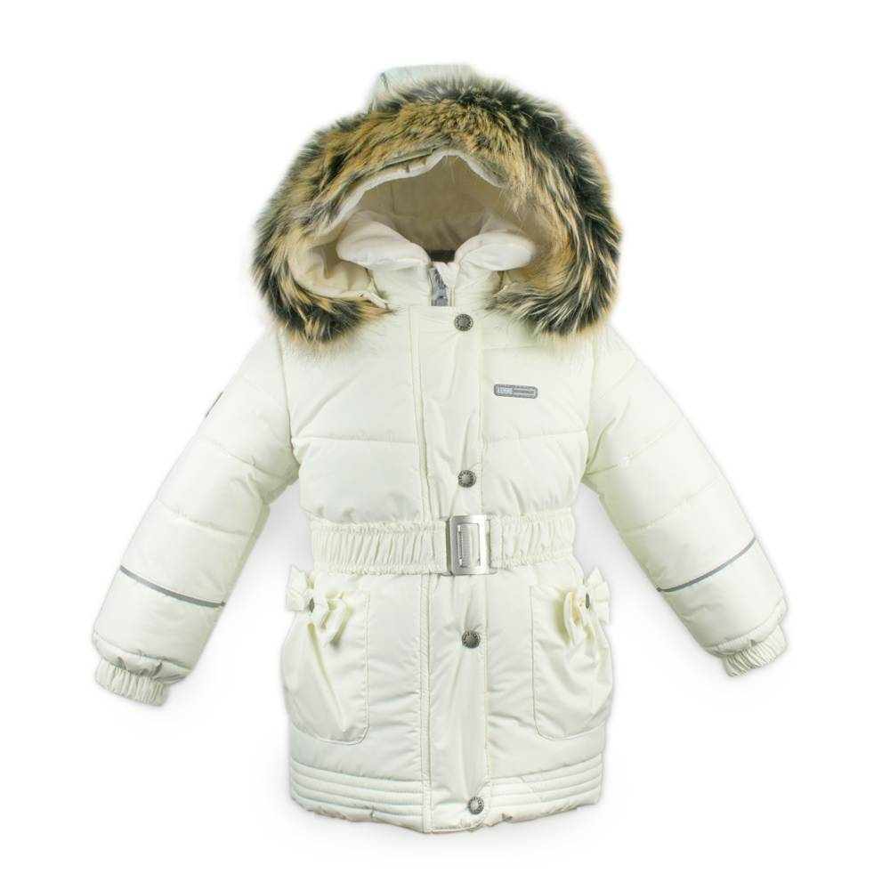 Куртка для девочки LENNE зимняя съемный воротник пояс карман з бантом ткань Active SHERYL 18335