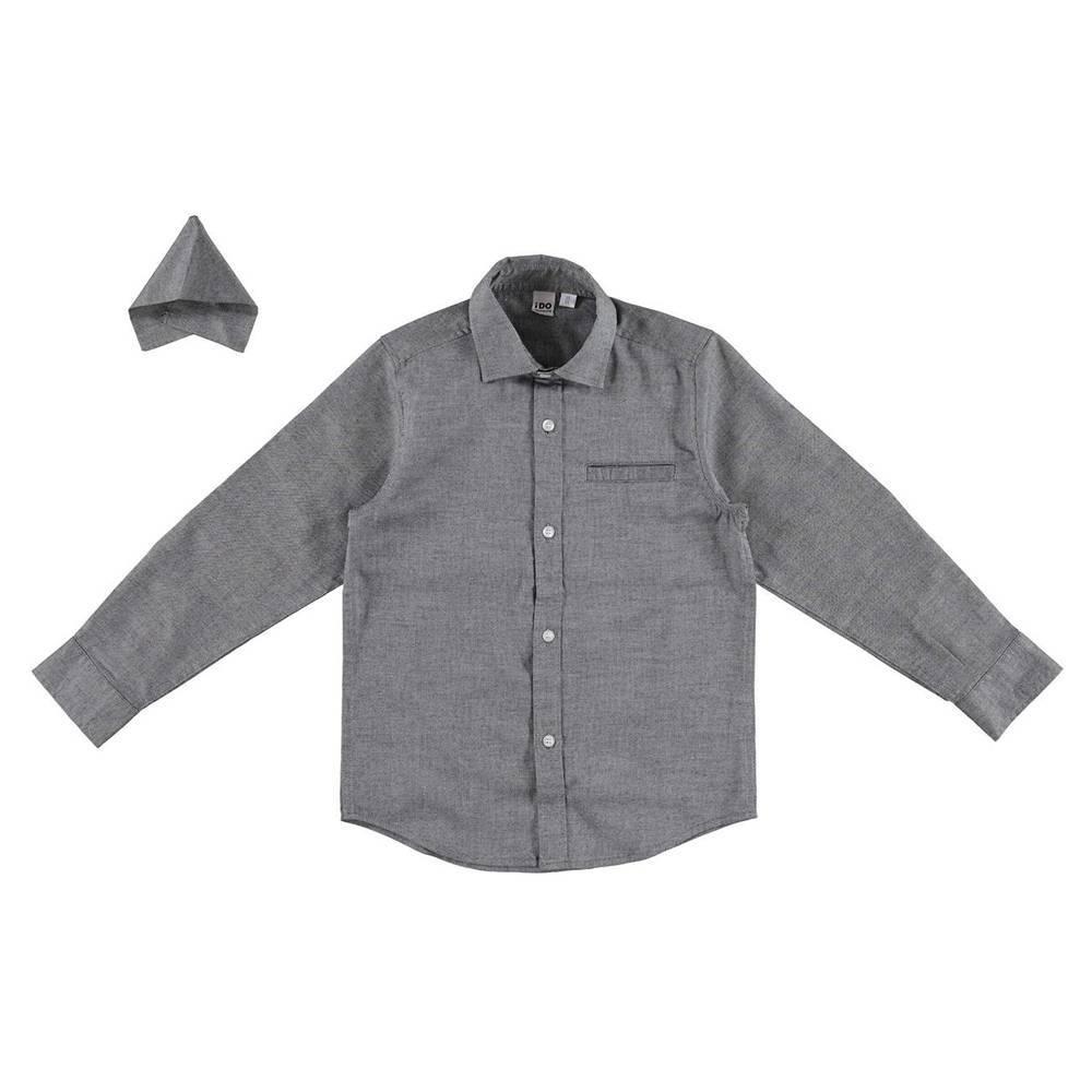 Рубашка для мальчика iDO классика школьная 4.V702.00/0519