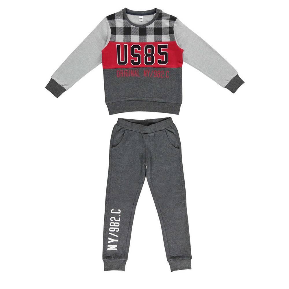Комплект для мальчика iDO спортивный эластичный реглан штаны 4.V811.00/8021