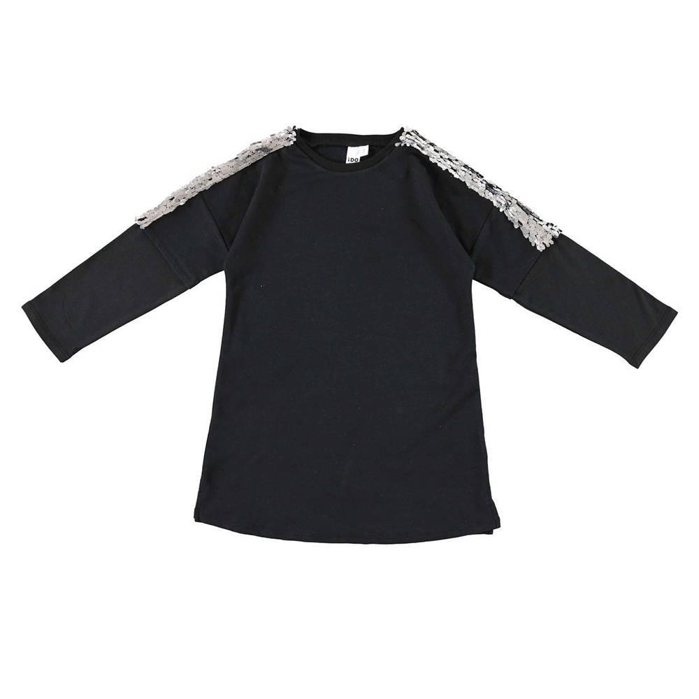 Платье для девочки iDO подросток длинный рукав блестки 4.V963.00