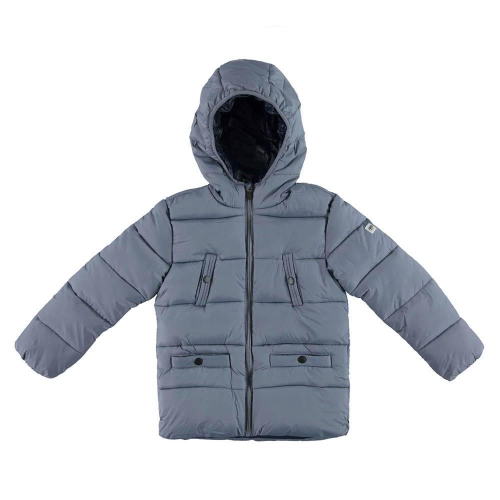Куртка для мальчика iDO демисезонная утепленная с капюшоном 4.V793.00/3827
