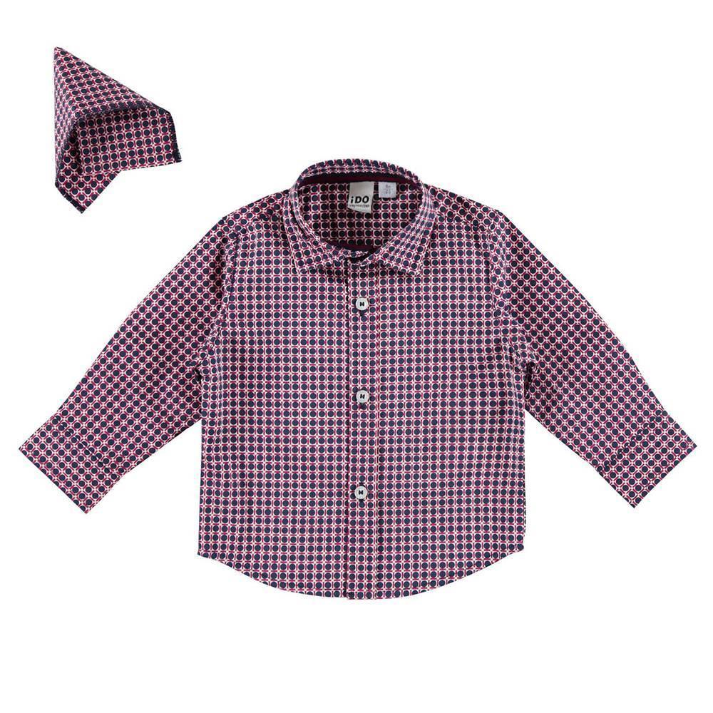 Рубашка для мальчика iDO стрейч поплин в клетку 4.V505.00/6EP1