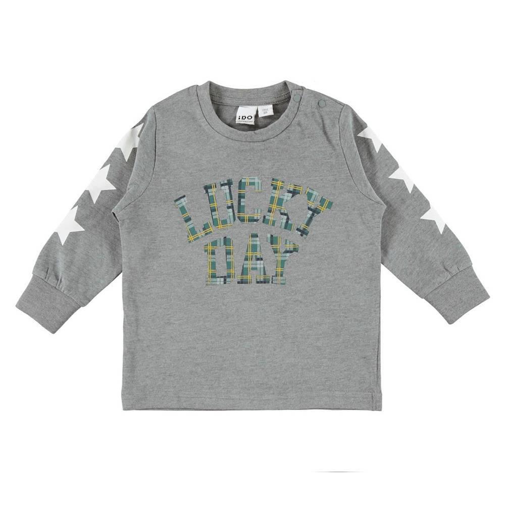 Реглан для мальчика iDO теплый трикотажный принт 4.V523.00/8970