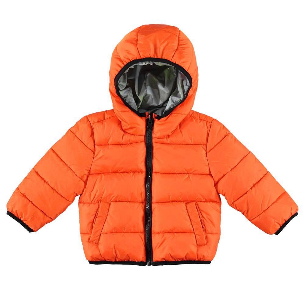 Куртка для мальчика iDO демисезонная двухсторонняя с капюшоном 4.V597.00/1828