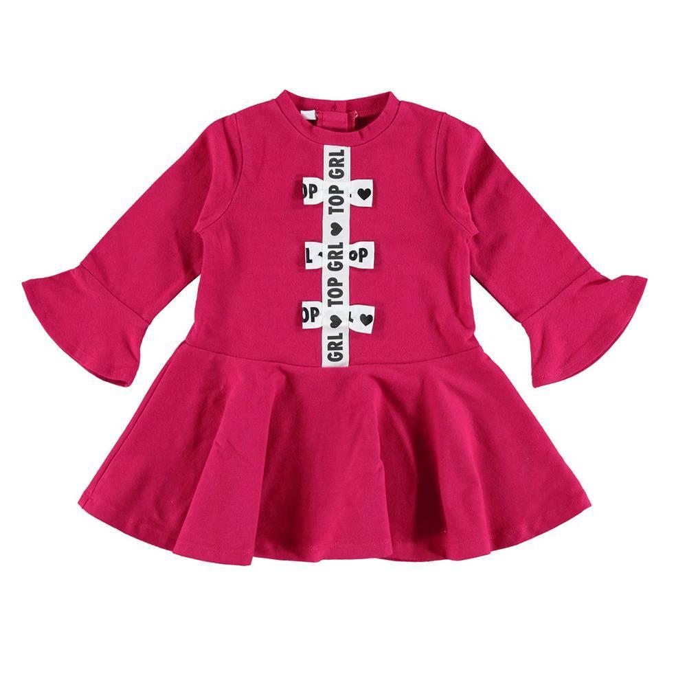 Платье для девочки iDO трикотажное хлопковое теплое длинный рукав 4.V630.00/5830