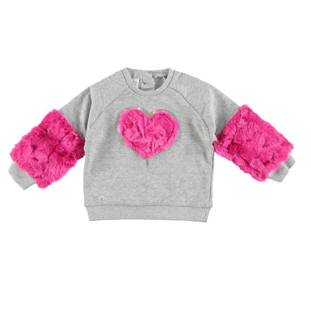 Реглан для девочки iDO меховые вставки на рукавах 4.V644.00/8992